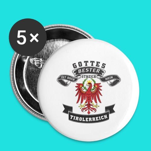 Tiroler - Buttons klein 25 mm (5er Pack)
