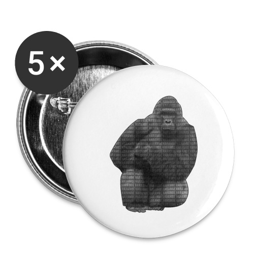 harambe 2k png - Buttons/Badges lille, 25 mm (5-pack)