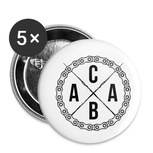 ACAB All Cyclists Are Beautiful - Buttons klein 25 mm (5er Pack)