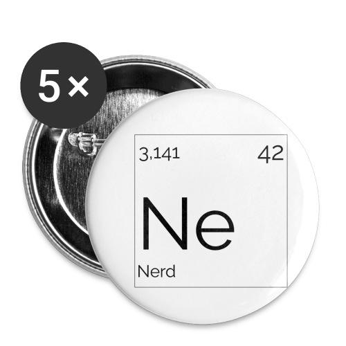 Mendeleïev Nerd - Lot de 5 petits badges (25 mm)