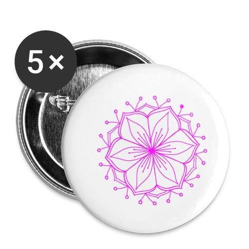 Pink Lotus Mandala - Buttons small 1''/25 mm (5-pack)