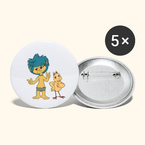 Plumps & Küken - Buttons klein 25 mm (5er Pack)