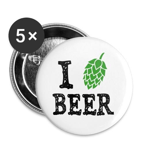 Tshirt-ILoveBeer - Lot de 5 petits badges (25 mm)