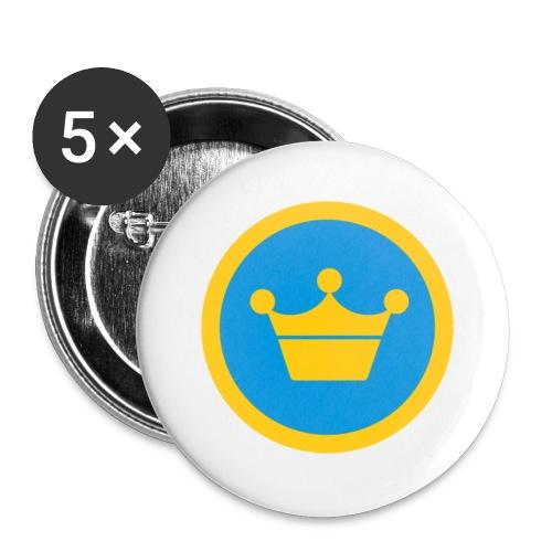 foursquare supermayor - Paquete de 5 chapas pequeñas (25 mm)