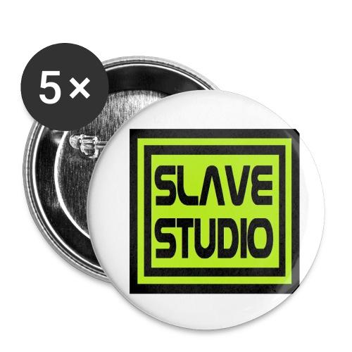 Slave Studio logo - Confezione da 5 spille piccole (25 mm)