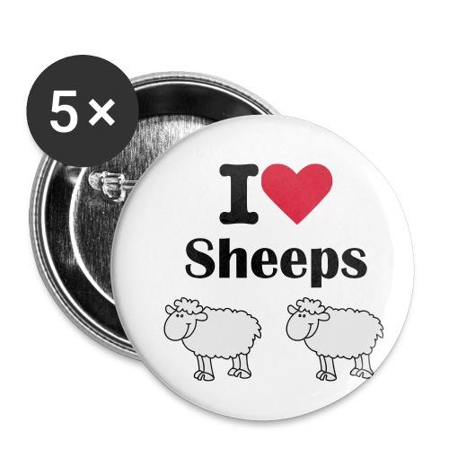 I-love-sheeps - Lot de 5 petits badges (25 mm)