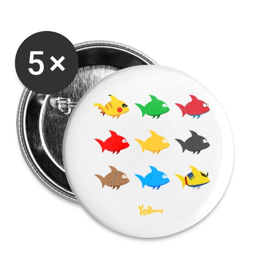 Swim! Yellow! Swim! - Buttons klein 25 mm (5-pack)
