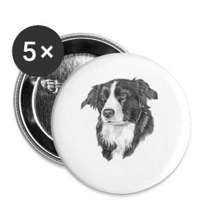 border collie S - Buttons/Badges lille, 25 mm
