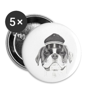 Boxer with cap - Buttons/Badges lille, 25 mm