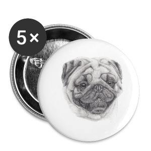 pug mops - Buttons/Badges lille, 25 mm