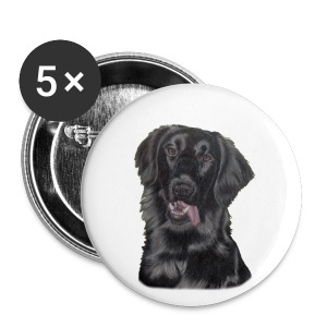 flatcoated retriever p - Buttons/Badges lille, 25 mm
