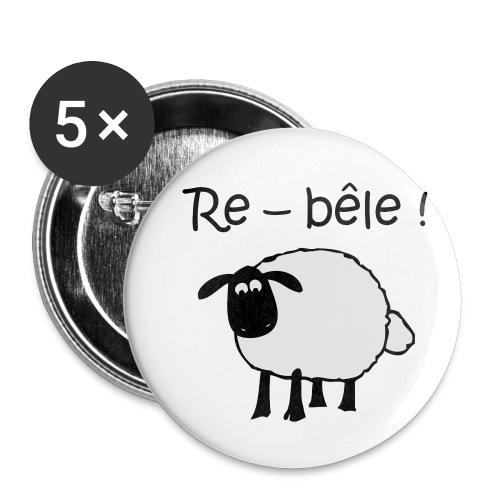 mouton-re-bele - Lot de 5 petits badges (25 mm)