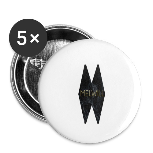 MELWILL black - Buttons small 1''/25 mm (5-pack)