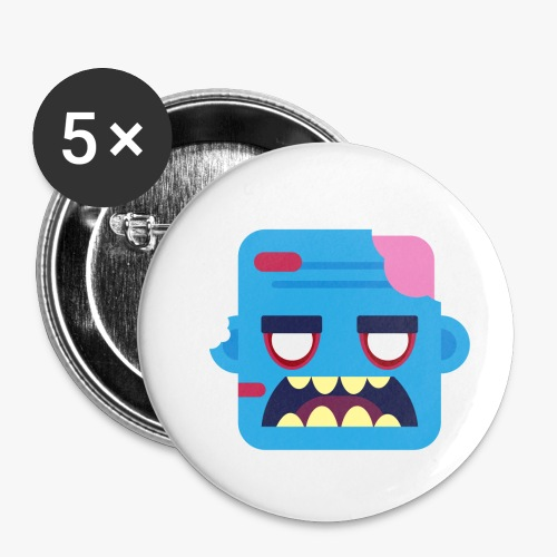 Mini Monsters - Zombob - Buttons/Badges lille, 25 mm (5-pack)