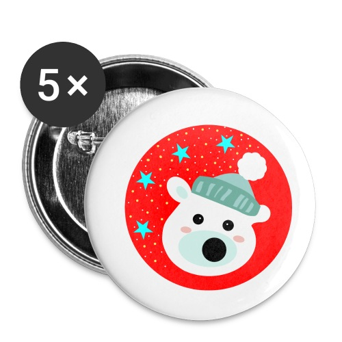 Winter bear - Buttons small 25 mm