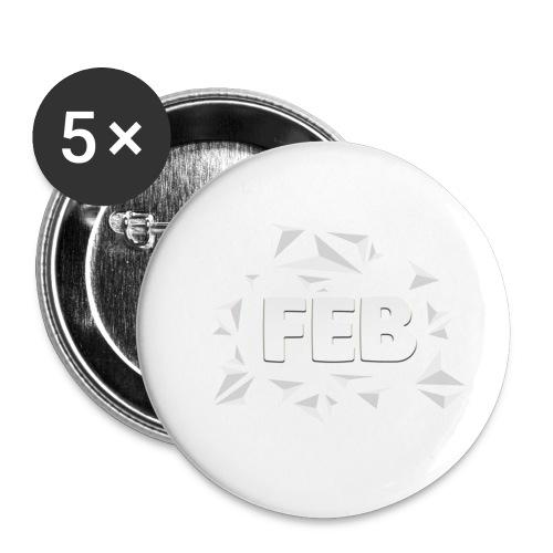 FebMerch - Buttons small 1''/25 mm (5-pack)
