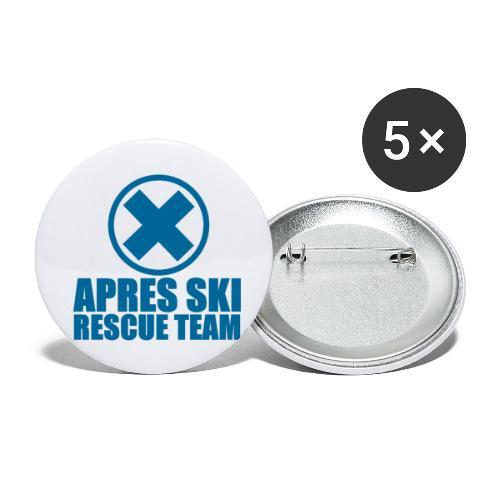 apres-ski rescue team - Buttons klein 25 mm (5-pack)