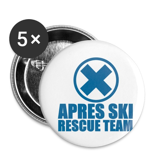 apres-ski rescue team - Buttons small 1''/25 mm (5-pack)