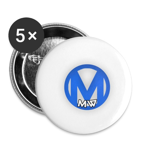 MWVIDEOS KLEDING - Buttons klein 25 mm (5-pack)
