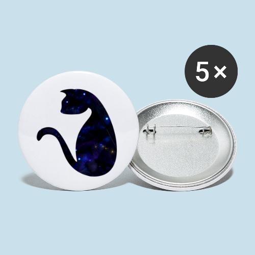 Universums Katze - Buttons klein 25 mm (5er Pack)