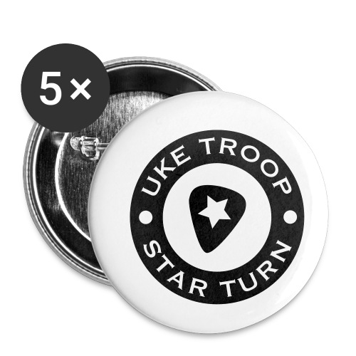uke troop small - Buttons small 1''/25 mm (5-pack)