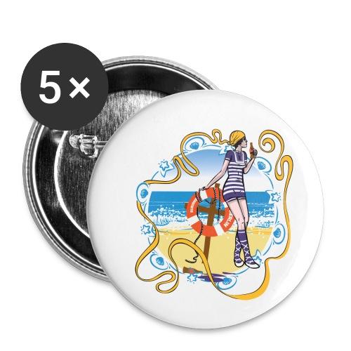 Sommerfrische - Buttons klein 25 mm (5er Pack)