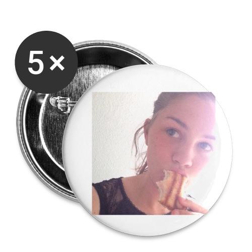 Det' toastBeks - Buttons/Badges lille, 25 mm (5-pack)