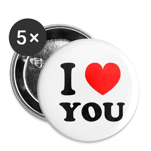 I love shirts en mee - Buttons klein 25 mm (5-pack)