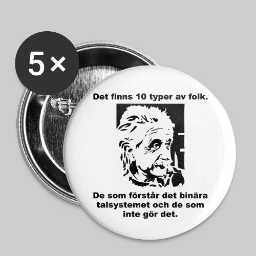 Det finns 10 Typer - Små knappar 25 mm (5-pack)