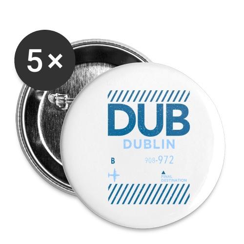 Dublin Ireland Travel - Buttons small 1''/25 mm (5-pack)