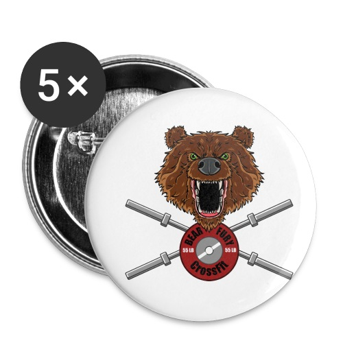 Bear Fury Crossfit - Lot de 5 petits badges (25 mm)