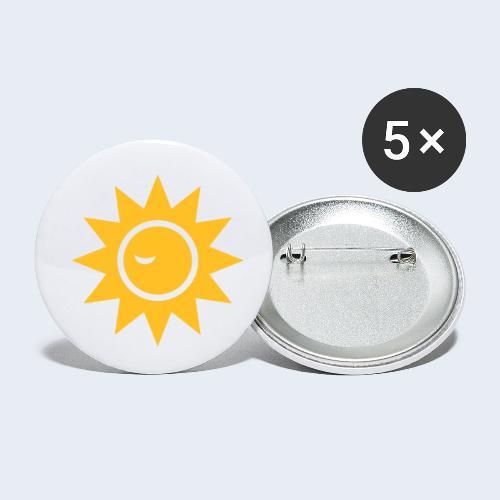 Winky Sun - Buttons klein 25 mm (5-pack)