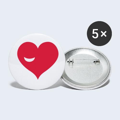 Winky Heart - Buttons klein 25 mm (5-pack)