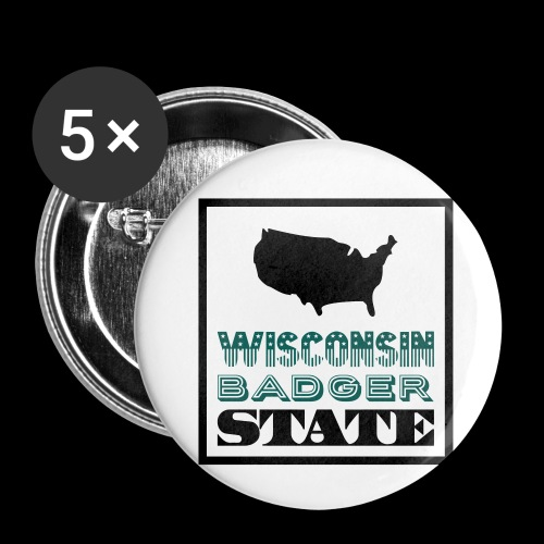 Wisconsin BADGER STATE - Buttons small 1''/25 mm (5-pack)