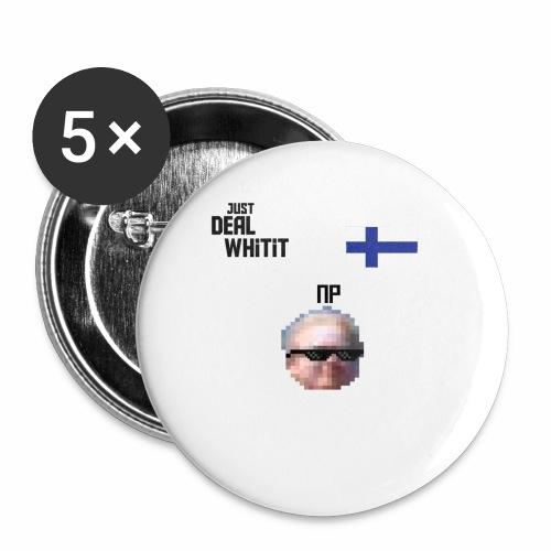 Dealwhitit NP Merch - Rintamerkit pienet 25 mm (5kpl pakkauksessa)
