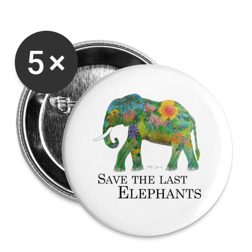Save The Last Elephants - Buttons klein 25 mm (5er Pack)