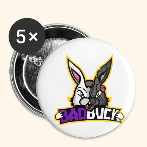 Badbuck Logo - Buttons small 1''/25 mm (5-pack)