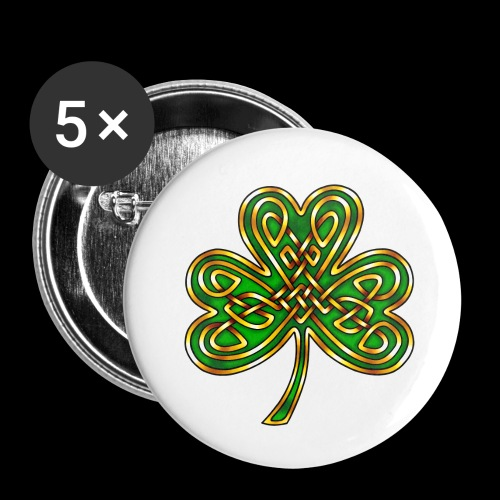 Celtic Knotwork Shamrock - Buttons small 1''/25 mm (5-pack)