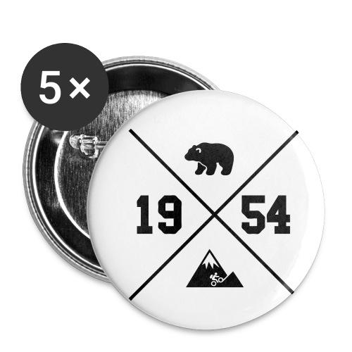 Karhuvuori -baseballhuppari - Rintamerkit pienet 25 mm (5kpl pakkauksessa)