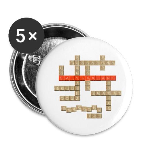 Scrabble - Switzerland - Buttons klein 25 mm (5er Pack)