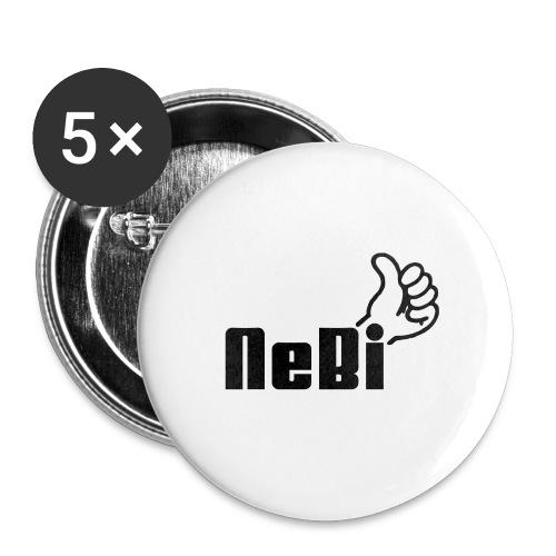 NeBiLOGO - Rintamerkit pienet 25 mm (5kpl pakkauksessa)