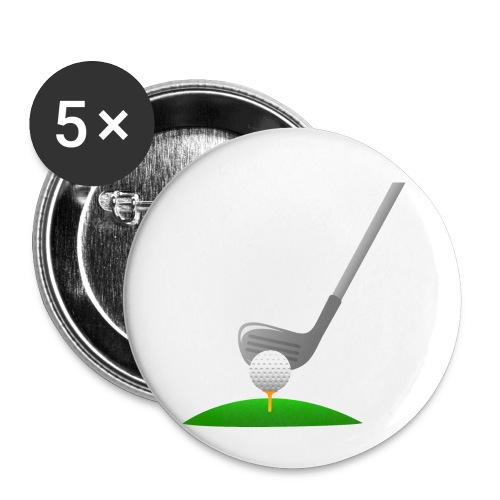 Golf Ball PNG - Paquete de 5 chapas pequeñas (25 mm)