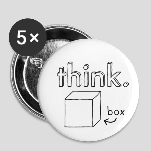 Think Outside The Box Illustration - Buttons small 1''/25 mm (5-pack)