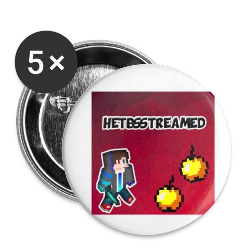 Logo kleding - Buttons klein 25 mm (5-pack)