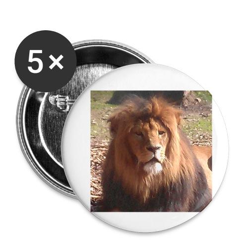 Lejon - Små knappar 25 mm (5-pack)