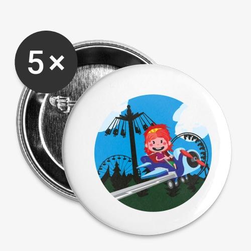 Themeparkrides - Airplanes - Buttons klein 25 mm (5-pack)
