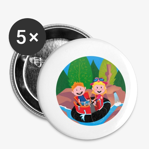 Themepark: Rapids - Buttons klein 25 mm (5-pack)