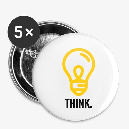 THINK - Confezione da 5 spille piccole (25 mm)