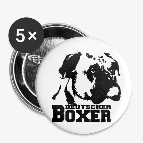 Deutscher Boxer - Buttons klein 25 mm (5er Pack)