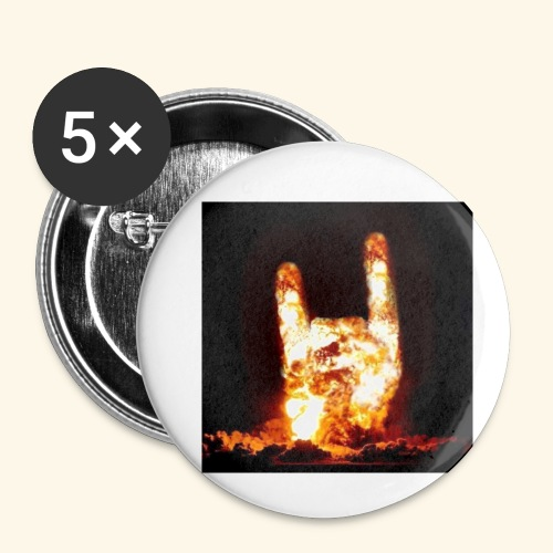 fingers bomb - Lot de 5 petits badges (25 mm)